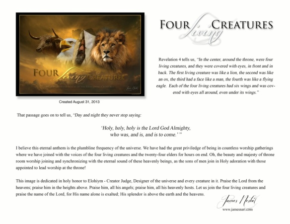 Four living Creatures description