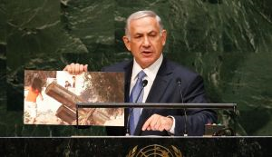 Netanyahu at UN credit Reuters per Haaretz