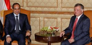 President el-Sisi and King Abdullah II.