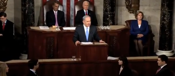 The Prime Minister of Israel addressing a Joint Session of Congress on March 3, 2015.