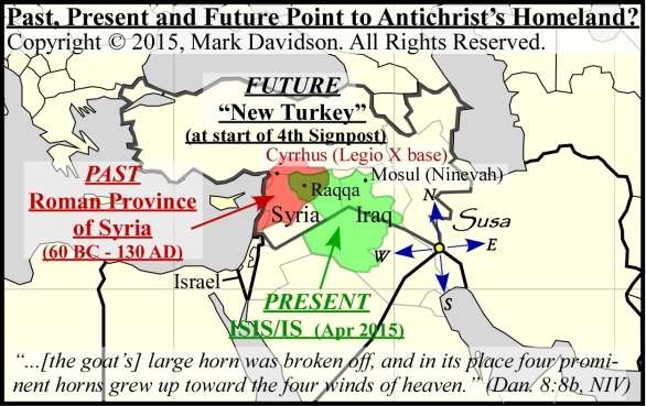 Territories of the past, present and future overlap.  Might this be the homeland of the Antichrist?