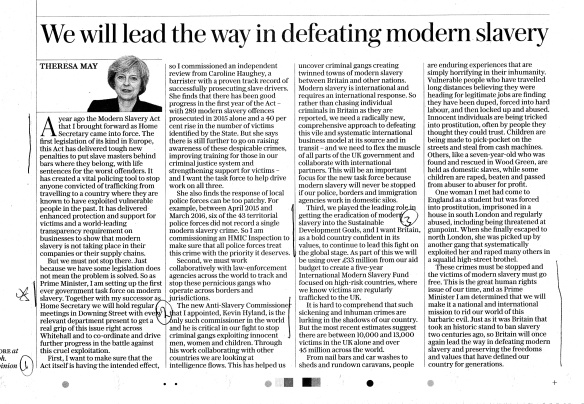 Re 2005 Prophecy - Theresa May Exclusive Article, credit Sunday Telegraph