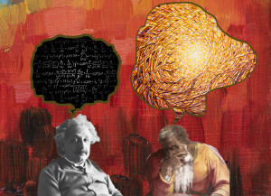 """Thoughts and Visions"" collage. The prophet's bubble from a painting by Edoardo Rodriguez Caldazo."