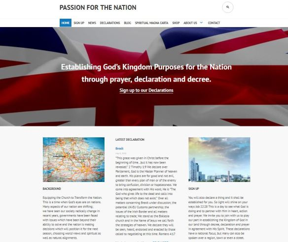 Passion for the Nation: Brexit prayer declaration