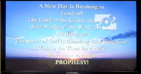 Transcript of Chuck Pierce word on 40 days for London